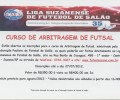 CURSO DE ARBITRAGEM DE FUTSAL