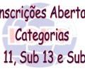 INSCRIÇÕES ABERTAS CATEGORIA MENORES